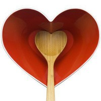 Heart Bowl with Heart Shaped Ladle