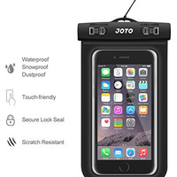 "Universal Waterproof Case, JOTO Cell Phone Dry Bag for Apple iPhone 6S 6,6S Plus, 5S 7, Samsung Galaxy S7, S6 Note 5 4, HTC LG Sony Nokia Motorola up to 6.0"" diagonal (Black)"
