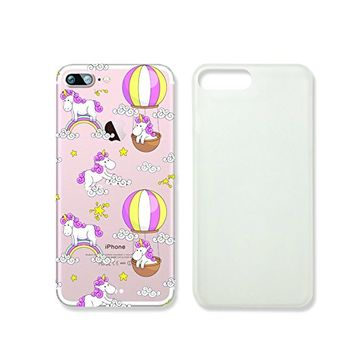 Cute Unicorns Slim Iphone 7 Case, Clear Iphone Hard Cover Case For Apple Iphone 7 Emerishop (NLA215.7sl)