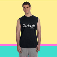 los angeles california Sleeveless T-shirt