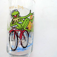 Vintage Kermit the Frog Drinking Glass 1981