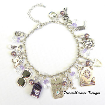 Pretty Little Liars Inspired Charm Bracelet Number 1