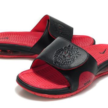 Nike Air LeBron Slide Red/Black Casual Sandals Slipper Shoes Size US 7-11
