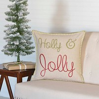 Holly & Jolly Pillow
