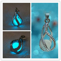 NEW Fashion Women The Little Mermaid's Teardrop Glow in Dark Pendant Necklace = 1945830532