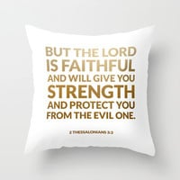 2 Thessalonians 3:3 Throw Pillow by Cooledition