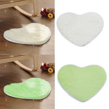 Autumn Fall welcome door mat doormat Cute Love Heart Shaped Non-slip Soft Coral Velvet Carpet Bath Home Bathroom Floor Shower Heart Shape  Fluffy Rug AT_76_7