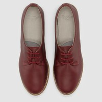 Dr Martens Sylvie Shoe CHERRY RED DANIO - Doc Martens Boots and Shoes
