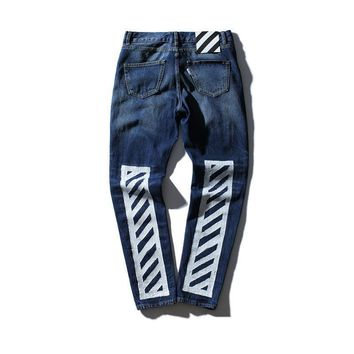 spbest Off White Denim Jeans