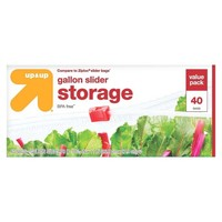 Slider Gallon Storage Bags - 40ct - Up&Up™ (Compare to Ziploc® Slider Bags)