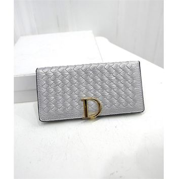 New Arrival Women Wallet Female Coin Purses Card Holders England Style Long Knitting Clutch Wallets ST1122 Silver
