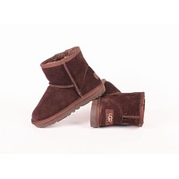 """UGG"" Winter Classic Popular Women Warm Wool Snow Boots Coffee"