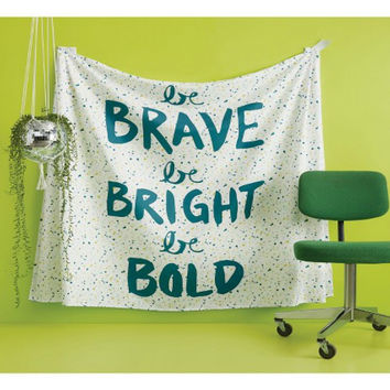 Be Brave Boho Cotton Wall Bed Tapestry