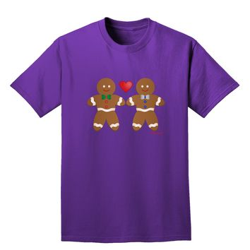 Gingerbread Man Couple Adult Dark T-Shirt by TooLoud