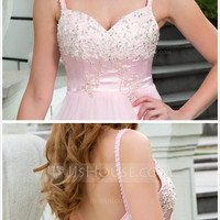 [ 142.99] A-Line/Princess Sweetheart Court Train Tulle Prom Dress With Lace Beading Bow(s) (018024671)