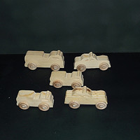 5 Handcrafted Wood Toy Fire Trucks and Police Cars OT-4 finished or unfinished