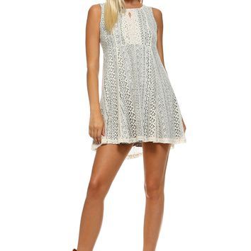 Lace Detail Tank Dress