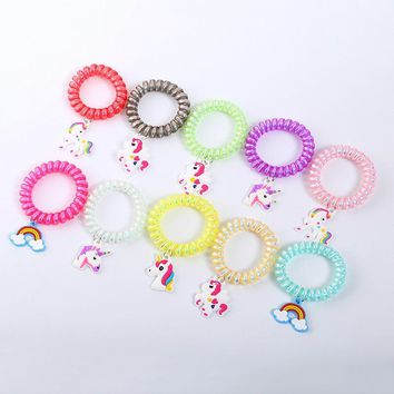 5pcs Birthday Party Decorations Kids Creative Gift Unicorn Hair Band Bracelet Unicorn Hair Decor for Girls Birthday Party Favors