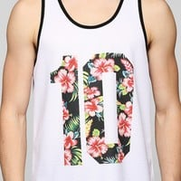 Deter Floral 10 Mesh Tank Top - Urban Outfitters