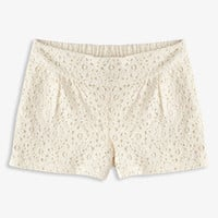 Playful Crochet Lace Shorts