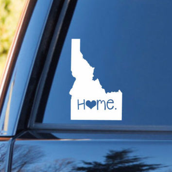 Idaho Home Decal | Idaho State Decal | Homestate Decals | Love Sticker | Love Decal  | Car Decal | Car Stickers | Bumper | 052