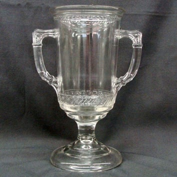 Dot and Dash Celery Vase Central Glass Company 1870's EAPG