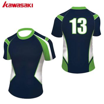 Kawasaki Professional Custom Men Women Rugby Top Shirts Printing Sports Team Cloth Sublimated Breathable Rugby Jersey