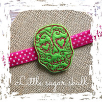 SALE! Little sugar skull headband ~photo prop~