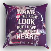 Fall Out Boy Lyric Quotes X0669 Zippered Pillows  Covers 16x16, 18x18, 20x20 Inches