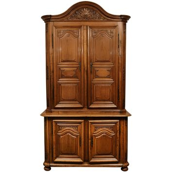 18th Century Regence Period French Walnut Two-Part Cabinet
