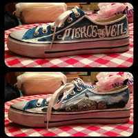 Pierce the Veil Shoes by RisingRedFox on Etsy