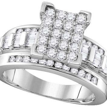 10k White Gold Diamond Cindy's Dream Cinderella Bridal Wedding Engagement Ring 2 Cttw Size 7 111504