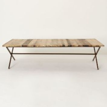 Plank House Coffee Table by Anthropologie Brown One Size Furniture