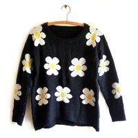 CRAZY FOR DAISIES SWEATER from GET HIGH WAISTED
