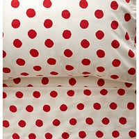 Anthropologie - Polka Dot Sheet Set