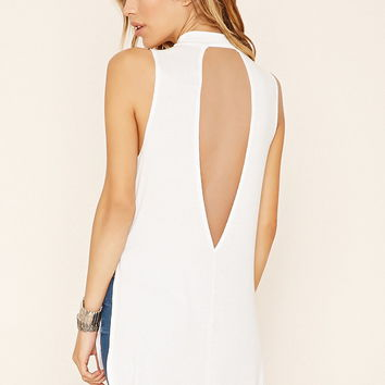 Ribbed Cutout Longline Top