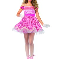 2pc. Hello Kitty Satin Bow Print Dress Costume
