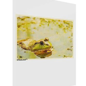 Bullfrog In Watercolor Gloss Poster Print Portrait - Choose Size by TooLoud