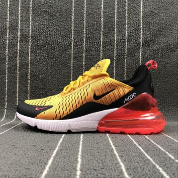 Best Online Sale Nike Air Max 270 Yellow Black Red Sport Running Shoes AH8050-706