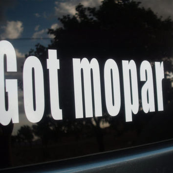 Mopar  Dodge Chrysler Roadrunner - Got Mopar ? - White Vinyl Decals - set of 2