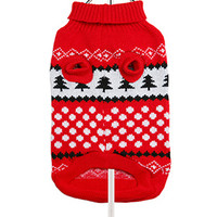 Red / White Snowball Sweater | Image 2 | Chihuahua Clothes and Accessories at the Famous Chihuahua Store!