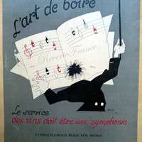 Vintage French Ad - Nicolas Symphony  French Wine Charles Martin 1954