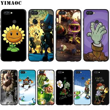 YIMAOC Plants Vs Zombies Silicone Case for Huawei Honor 6a 7a 7c 7x 8 9 10 Lite Pro Y6 2018 2017 Prime