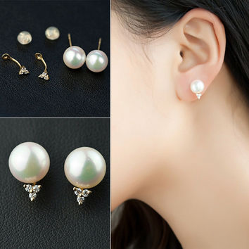 Pearls Stylish Accessory Earrings [4914835524]
