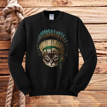 indian cat sweater unisex adults