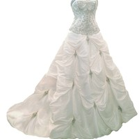 Faironly Ivory Strapless Women's Wedding Dress K39