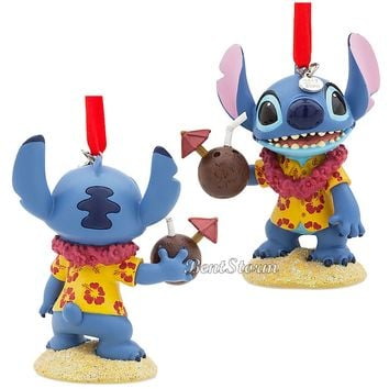Licensed cool 2017 Lilo & Stitch Hawaii Coconut Sketchbook Christmas Ornament Disney Store NEW