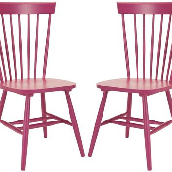 Parker Spindle Dining Chair (Set Of 2) Raspberry