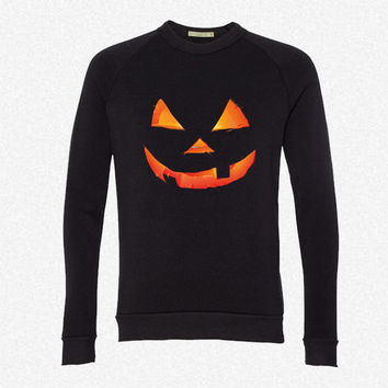 Pumpkin Halloween fleece crewneck sweatshirt
