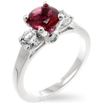 Mini Pink Tourmaline Triplet Ring